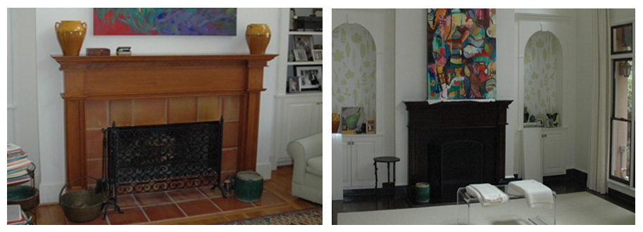 Something as simple as updating a mantle and bookshelves make a world of difference in a great room.