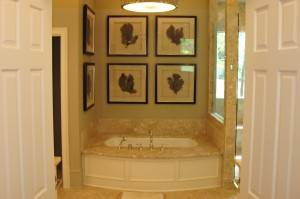 Bath remodel with Marble sunken tub